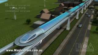 Download Magnetic levitation twin pipe transport system - advanced maglev train technology Video