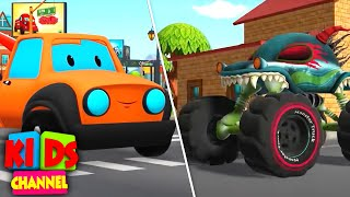 Download Road Rangers Vs Haunted House Monster Truck | Car Cartoon Videos for Kids Video