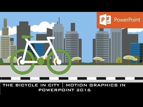 The Bicycle Animation in PowerPoint 2016 | Motion Graphics Tutorial