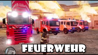 Download GTA IV - Feuerwehr / German Fire dept responding to a structure fire Video