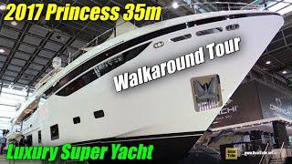 Download 2017 Princess 35m Luxury Super Yacht - Walkaround - 2018 Boot Dusseldorf Boat Show Video