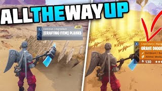 Download Trading From A Stack Of Planks To A 130 GRAVE DIGGER! - All The WAY UP! [1] Fortnite Save The World Video