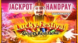 Download **JACKPOT HANDPAY** - LUCKY FESTIVAL GOOD FORTUNE SLOT - SUPER HUGE - MAX BET! - Slot Machine Bonus Video