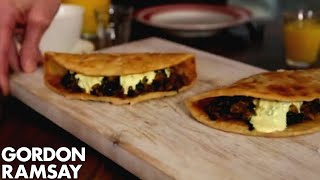 Download Indian Spiced Egg & Spinach Wrap | Gordon Ramsay Video