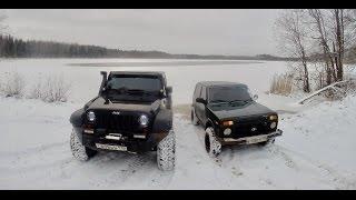 Download Jeep wrangler vs Нива. Offroad зимой Video