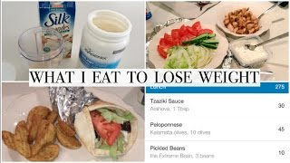 Download WHAT I EAT TO LOSE WEIGHT | BACK TO CALORIE COUNTING | + EASY CHICKEN SOUVLAKI PITAS Video