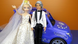 Download Elsa's Wedding ! Elsa and Anna toddlers at the Church - lots of princesses invited - dresses - gowns Video