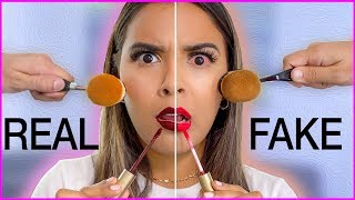 Download Beauty Busters: Poop or Woop? FULL FACE OF FAKE vs. REAL MAKEUP Natalies Outlet Video
