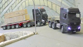 Download HEAVY TRANSPORT - 100t BLOCKS OF STONE, AMAZING RC LIVE ACTION Video