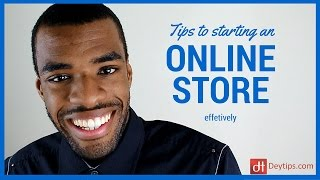 Download Basic tips on starting an online store Video