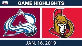 Download NHL Highlights | Avalanche vs. Senators - Jan. 16, 2019 Video