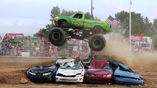 Download Reptoid Monster Truck Freestyle At Monster Truck Shootout At Imlay Fair 2016 Video