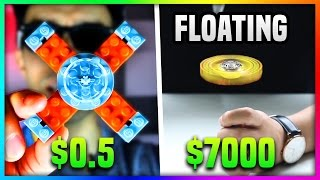 Download $0.5 LEGO FIDGET SPINNER Vs. $7000 FIDGET SPINNER (Floating Fidget Spinner VS Lego Fidget Spinner) Video