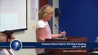 Download 2018-07-17 Elmhurst 205 School Board Meeting Video