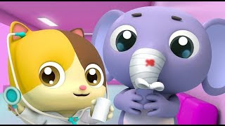 Download Kitten Doctor in Hospital | Doctor Cartoon | Kids Cartoon | Nursery Rhymes | Baby Songs | BabyBus Video