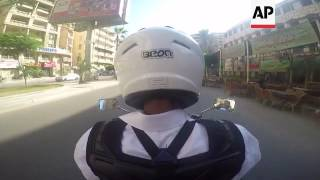 Download Motorcycle cabbies hit the streets of Alexandria Video