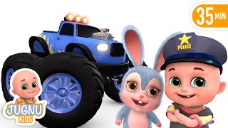 Download Car Videos | Monster Trucks | Vehicle Song | Nursery Rhymes Compilation from Jugnu Kids Video