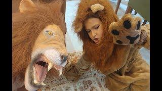 Download Çok gerçekçi aslan maskesi ve aslan kostümü, eğlenceli çocuk videosu Video