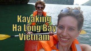 Download Kayaking along scenic Ha Long Bay, Vietnam Travel Video   Adventure travel & sports in Vietnam Video
