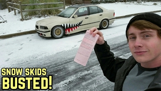 Download WELDED DIFF + SNOW = TICKET!!! BMW E36 325I DRIFTING Video