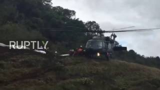 Download Colombia: Emergency teams search wreckage of deadly plane crash Video