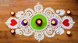 Download Freehand Diwali Rangoli Designs with Colours Video