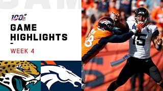 Download Jaguars vs. Broncos Week 4 Highlights   NFL 2019 Video