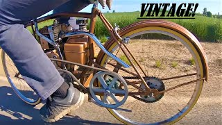 Download I make a VINTAGE motorbike from a bicycle. Video