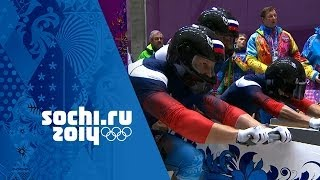 Download Bobsleigh - Four-Man Heats 1 & 2 | Sochi 2014 Winter Olympics Video