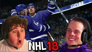 Download PLAYING NHL 18 WITH AUSTON MATTHEWS!!!!! Video