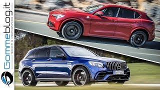 Download Alfa Romeo Stelvio Quadrifoglio VS Mercedes GLC 63 AMG - 510 HP Suv BATTLE Video