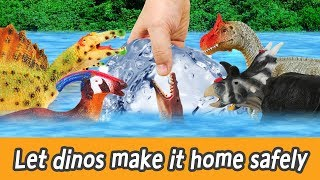 Download [EN] Let dinos make it home safely!! kids english, dinosaurs movies, collectaㅣCoCosToy Video