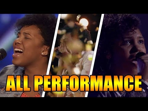 Jayna Brown 14-Year-Old Singer America's Got Talent 2016 ALL Performances|GTF