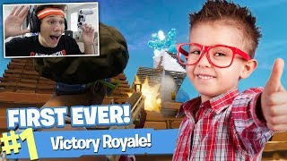 Download GETTING LITTLE KID HIS FIRST EVER FORTNITE WIN!!! Video