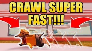 Download CRAZY SUPER SPEED CRAWLING GLITCH AND GIVEAWAY!! 🐧 (Roblox Jailbreak) Video