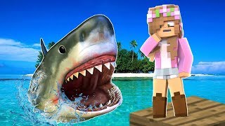 Download STRANDED ISLAND SHARK ATTACK CHALLENGE! Minecraft Little Kelly and Little Lizard Video