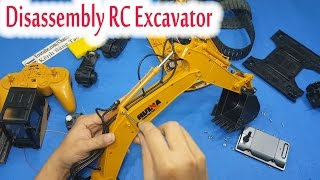 Download Disassembly - What's inside RC Excavator Huina Toys 1550 Video