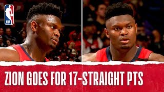 Download Zion Williamson Goes OFF for 17 STRAIGHT POINTS In NBA Debut!! Video