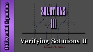 Download Differential Equations: Solutions (Level 3 of 4) | Verifying Solutions II Video