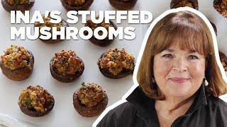 Download Barefoot Contessa Makes Sausage-Stuffed Mushrooms | Food Network Video