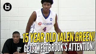Download Jalen Green Gets Russell Westbrook's Attention! 15 Year Old 5-Star Guard! Full Highlights! Video