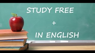 Download top 5 countries where you can STUDY FREE + in ENGLISH !! Video