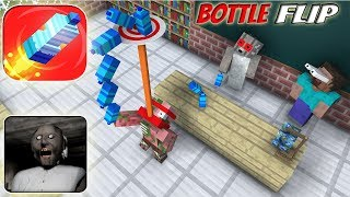 Download Monster School : BOTTLE FLIP GAME CHALLENGE VS GRANNY - Minecraft Animation Video