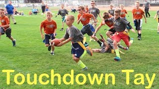 Download KID SCORES TOUCHDOWNS RUNNING TRICK PLAYS AT FOOTBALL GAME! Video