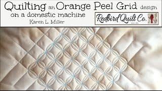Download Orange Peel Grid Quilting Design - Continuous Curve on a Domestic Machine Video
