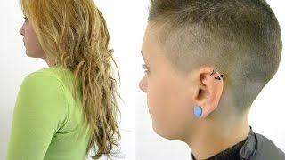 Download Clipper Cut Makeover ShortHaircutGirls Long to Short Flattop Video