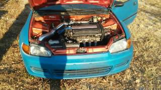 Download Fast b18 Swapped eg civic hatch Video