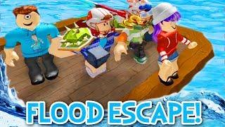 Download FLOOD ESCAPE 2 IN ROBLOX! | RADIOJH GAMES & MICROGUARDIAN Video
