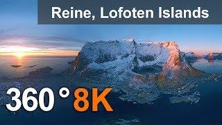 Download Reine, Lofoten archipelago, Norway, 8K 360° video Video