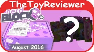 Download August 2016 Nerd Block Jr. Girl's Toy Subscription Box Unboxing Review by TheToyReviewer Video